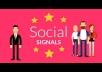 1,000+ most social signals From best top 4 social media sites