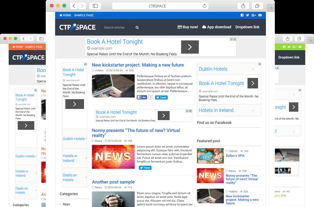 Smart Adsense High CTR Wordpress Theme - CTRSpace