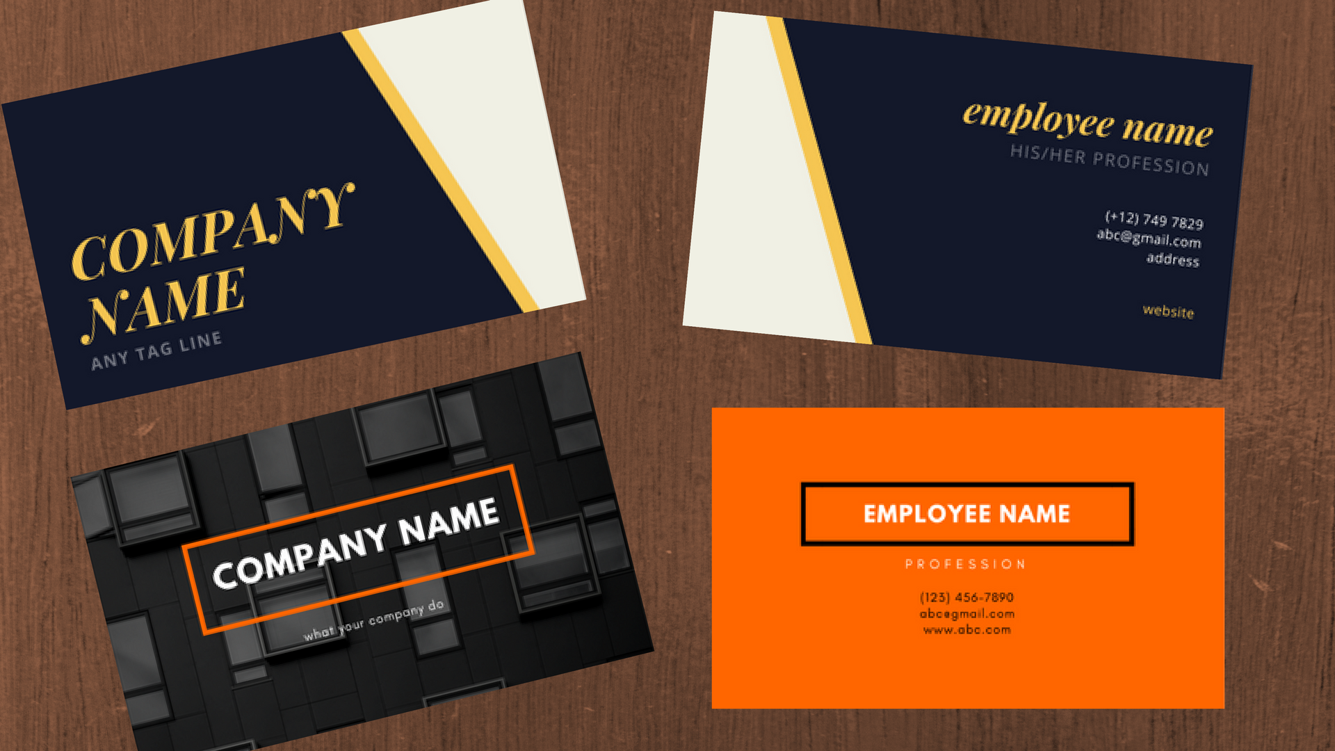 3 simple and modern professional business card for $5 seoclerks