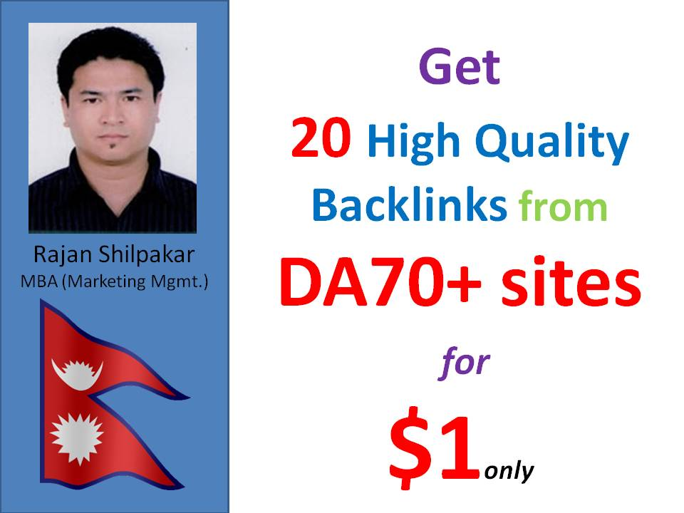 50 DA 70+ backlinks from Mix contextual and profiles backlinks
