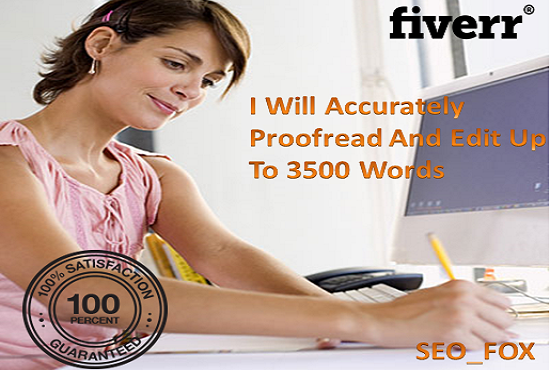 Proofreading fast service up to 5000 Words