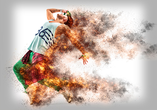 Transform your photo into firestorm effect