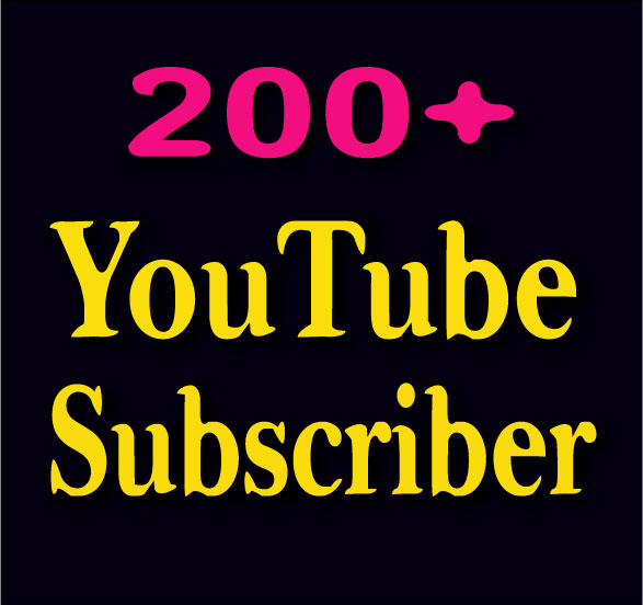 Offer 500-600 YouTube Channel Subscr'ibers Non drop