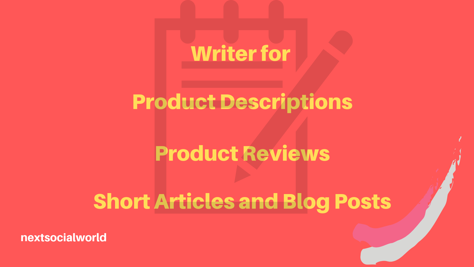 Writer for product descriptions, reviews, short articles and blog posts