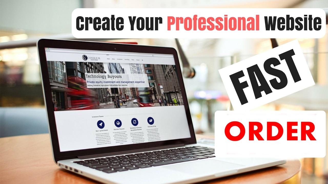 I Develop A Professional Wordpress website