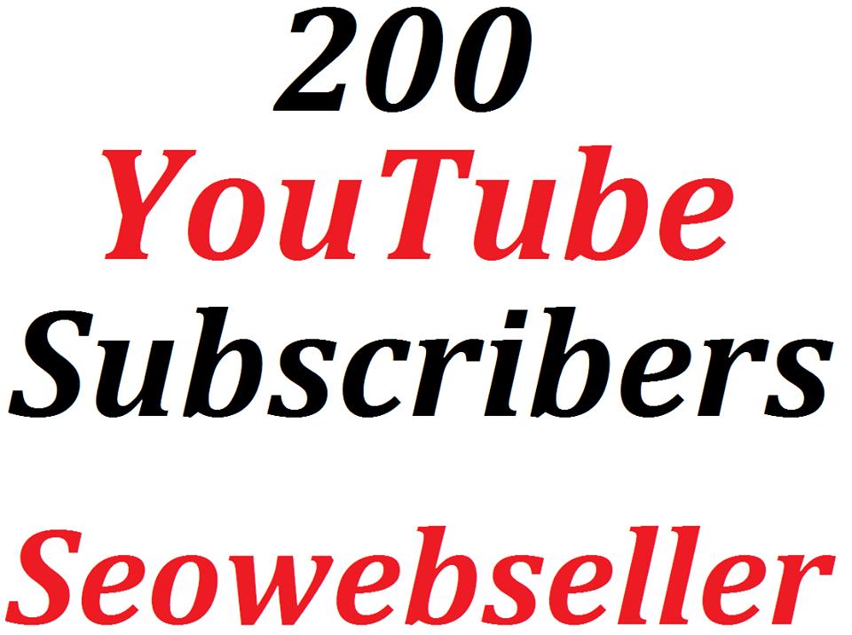 Get  200 Y0U TUBE Subscribe  non drop guaranteed super fast delivery