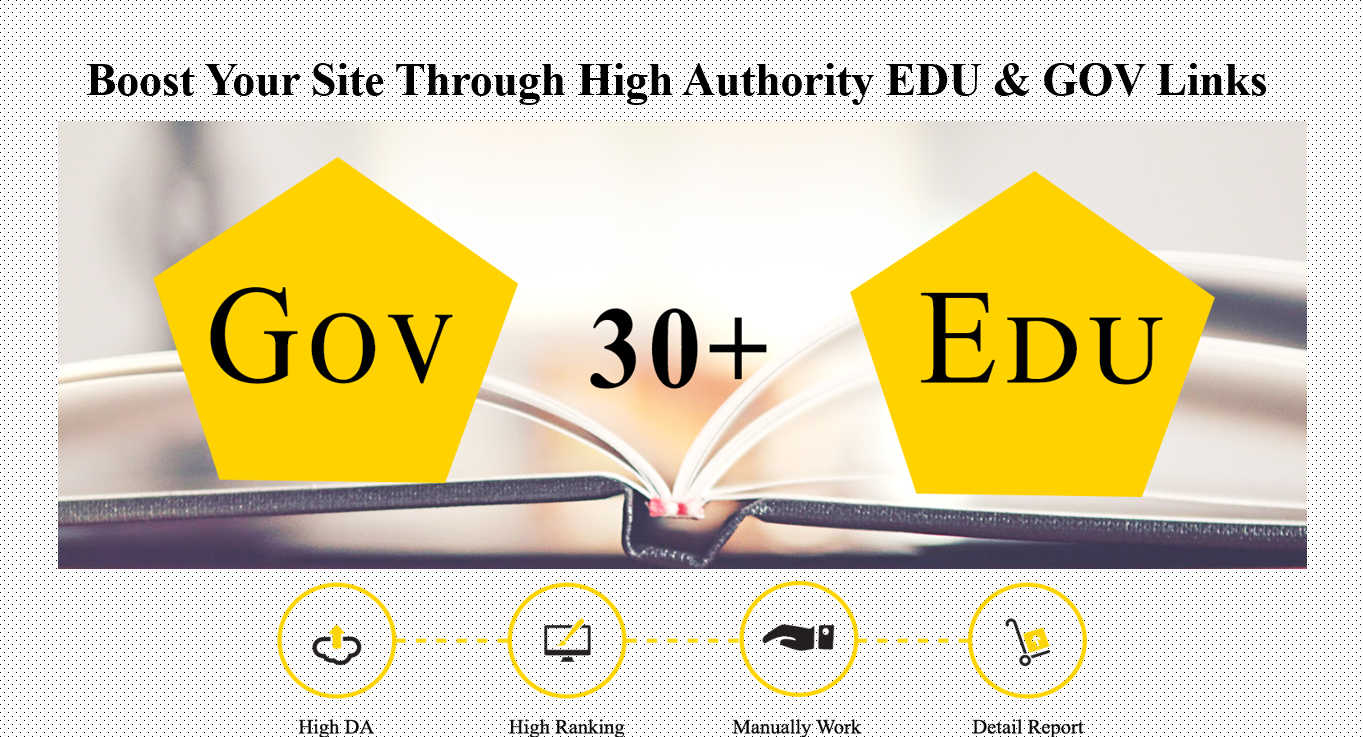 Create Manually High Pr Edu Gov Links