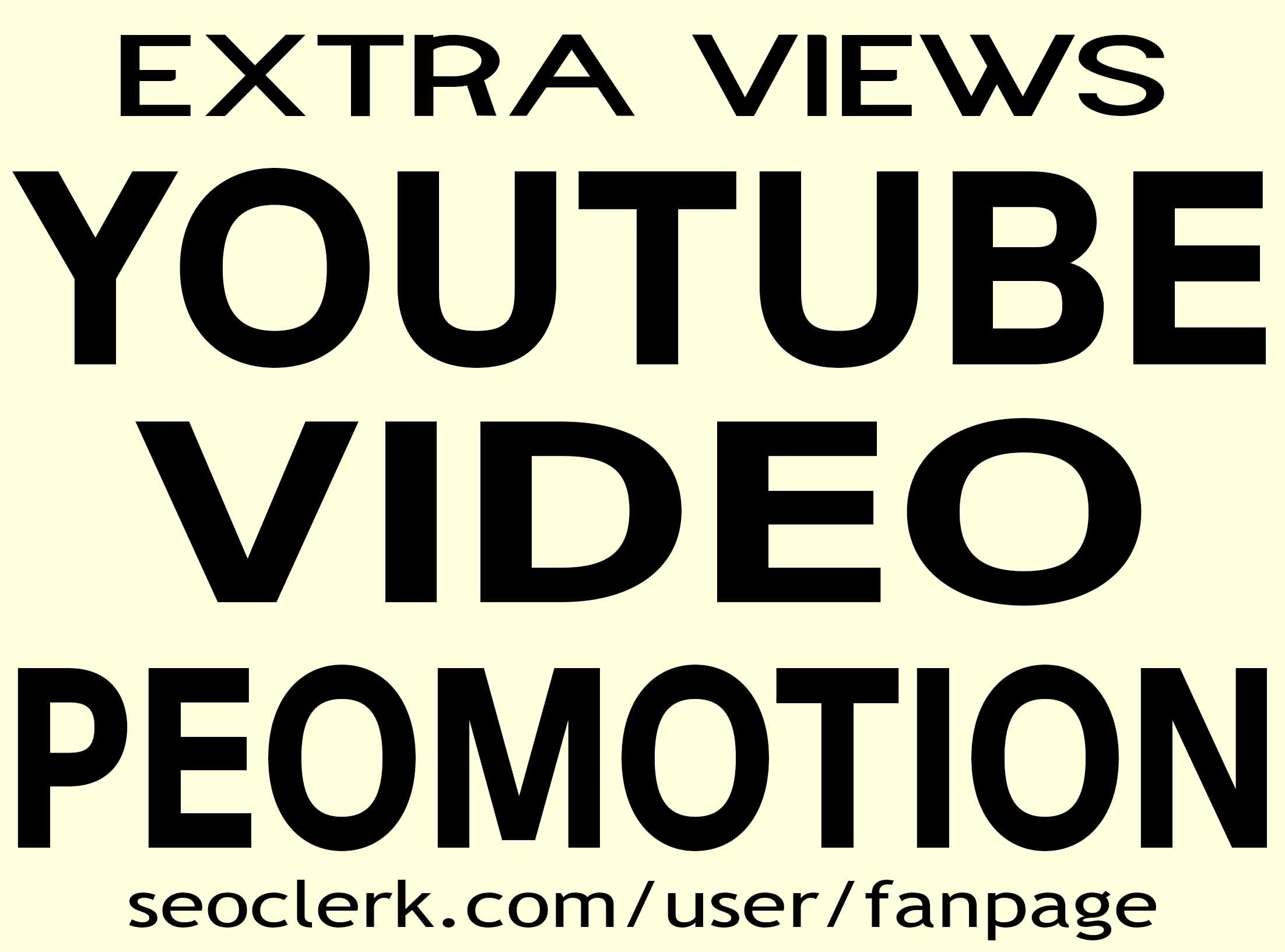 YOUTUBE VIDEO PROMOTION AND MARKETING NON DROP & HIGH QUALITY INSTANT START