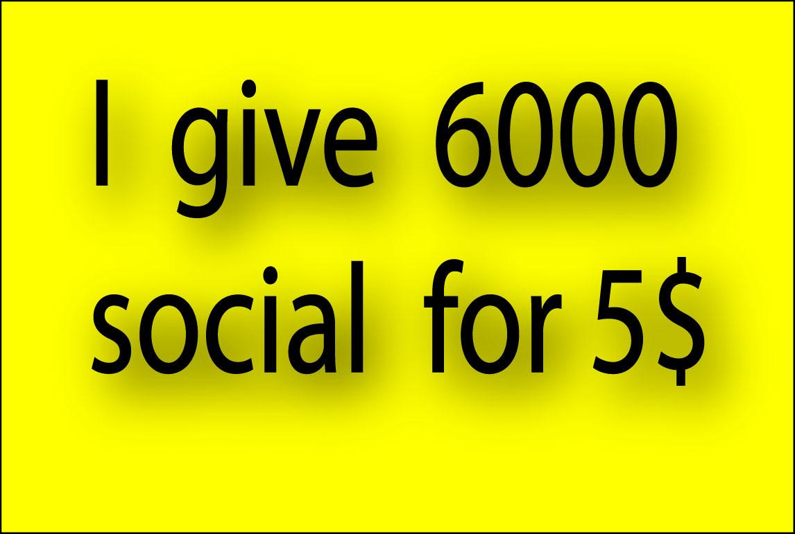 I do 6000 social signals