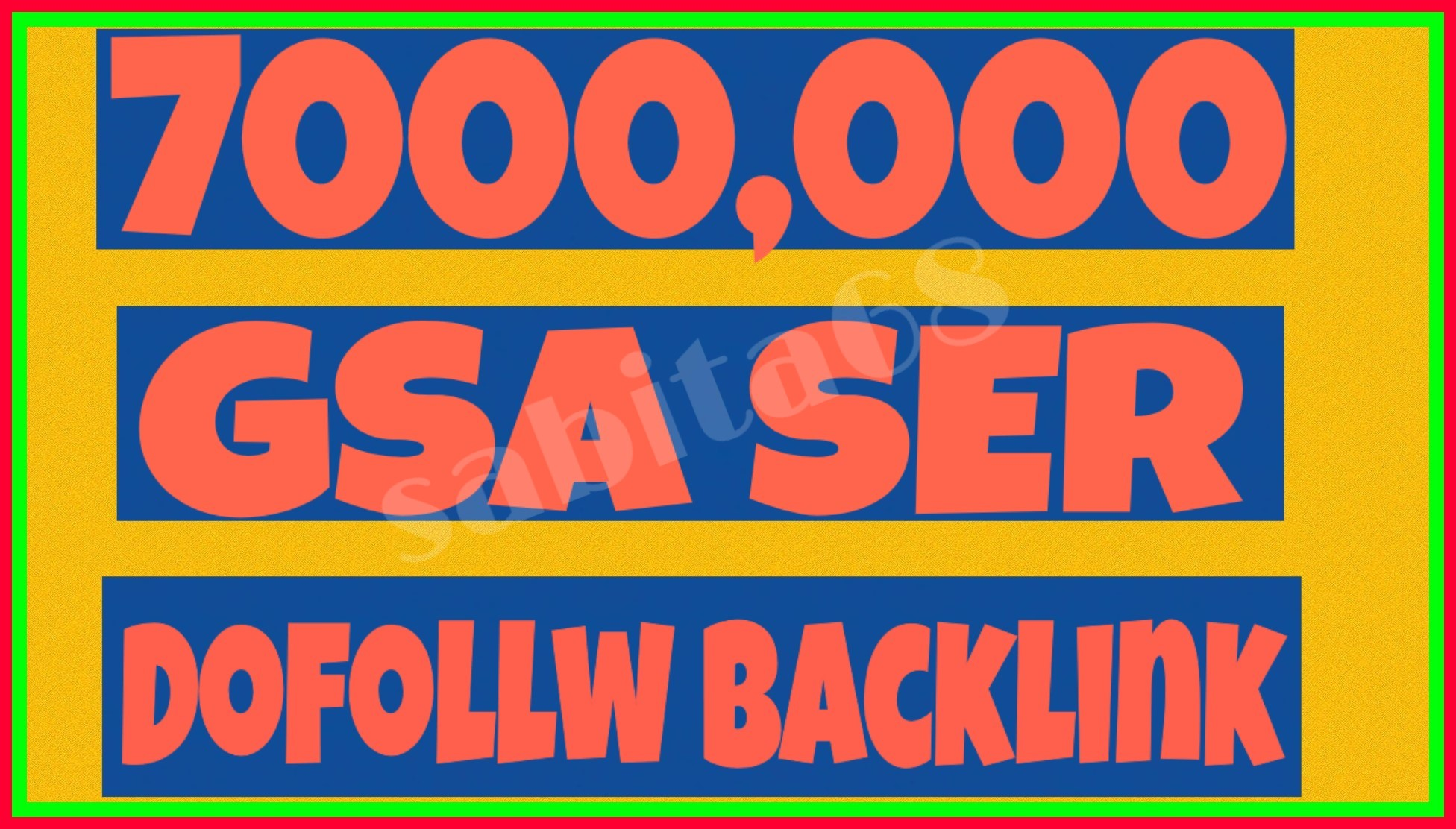 Provide 7000,000 GSA Ser High Authority Back links