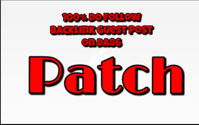 publish a guest post on  Patch PA88 DA86 CF46 TF40 Alexa rank 724