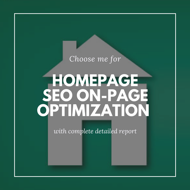On-Page Optimization of Homepage