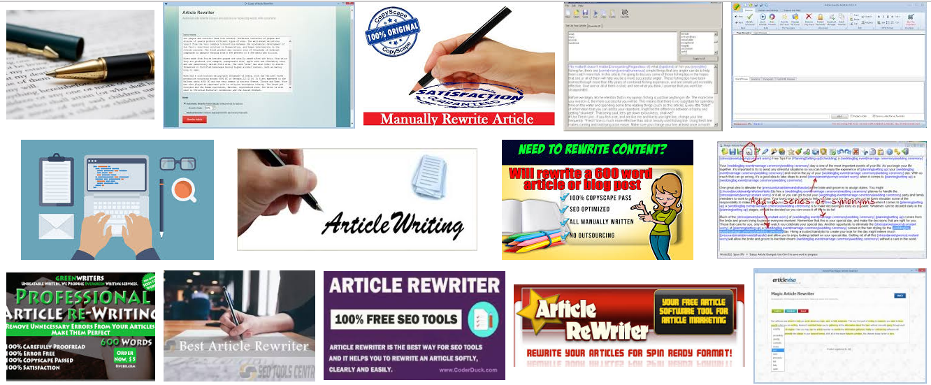 10 article rewrite worldwide with 10 keywords each one 500 words