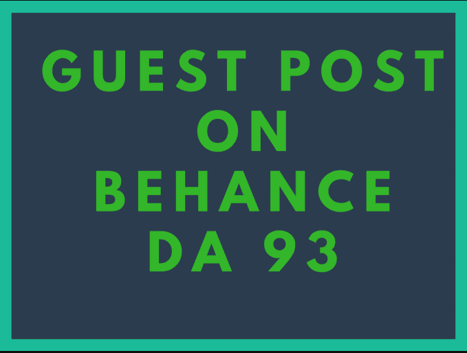Publish Guest Post On Behance DA 93 Manually