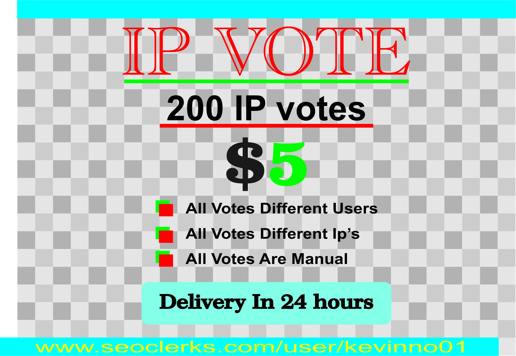Bring you 200 genuine votes to your entry to any website contest poll