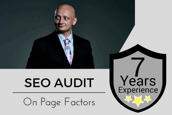 Provide In Depth Seo AUDIT Of Your Website With Full Report