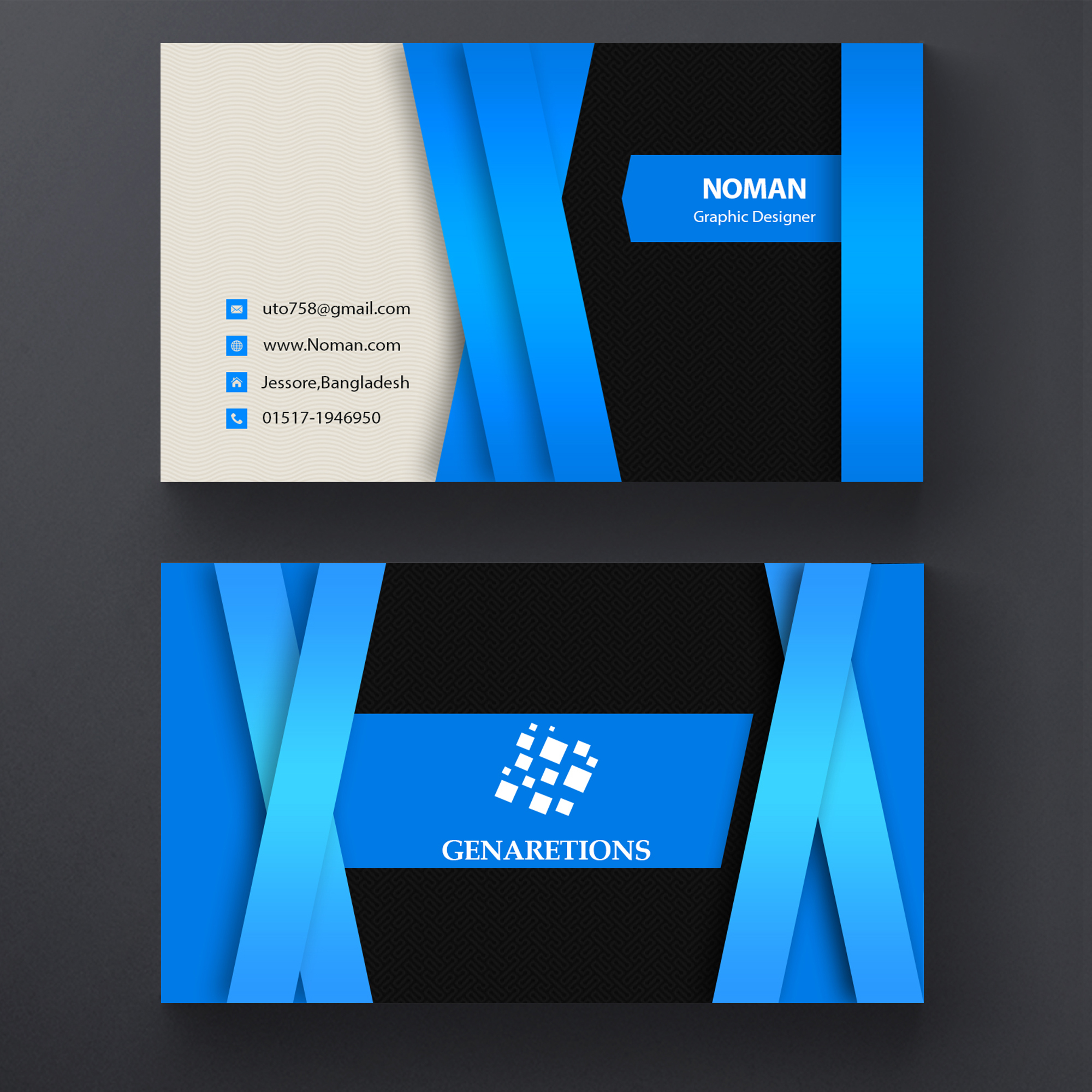 Get OUTSTANDING And Double Side Business Card