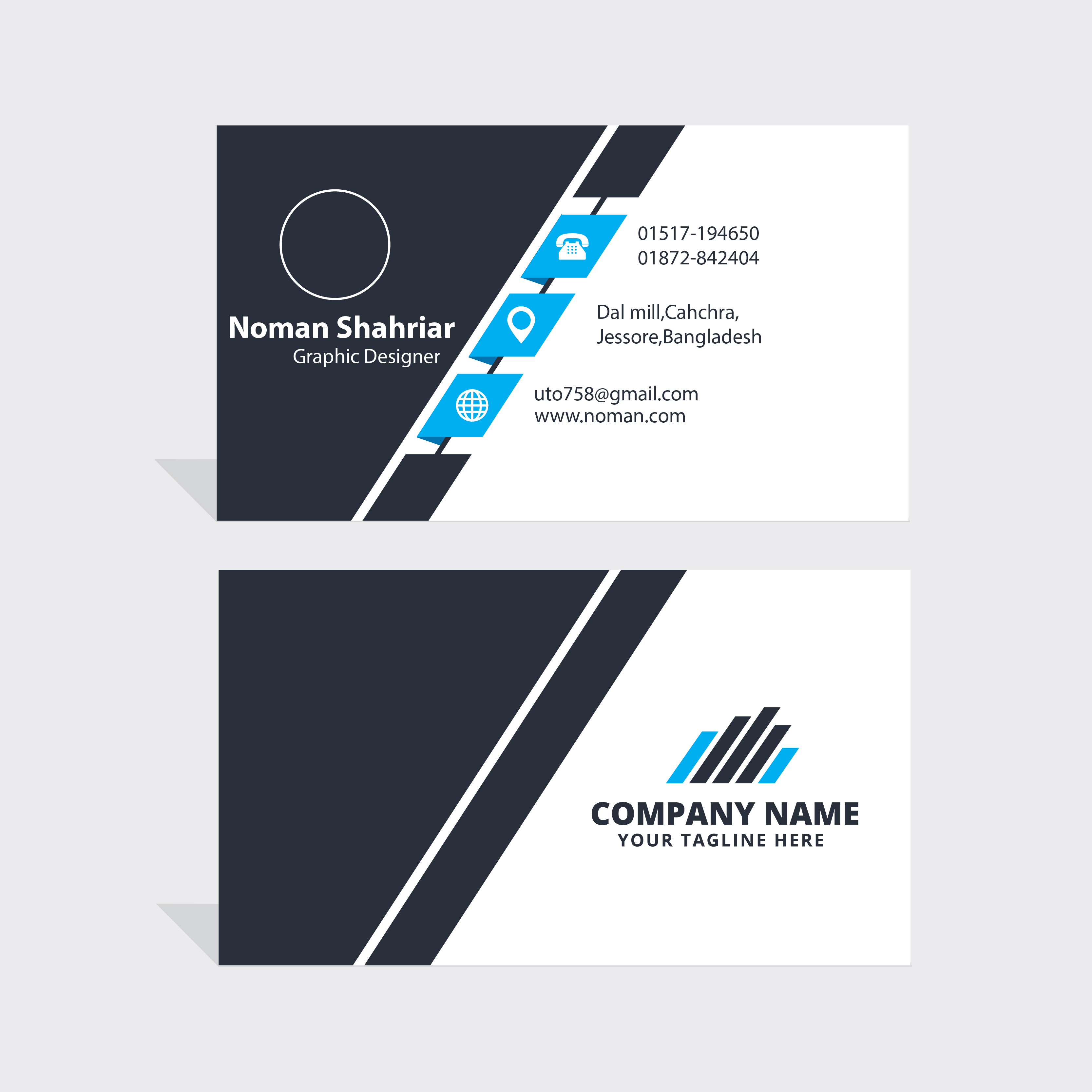 Get OUTSTANDING And Double Side Business Card for $5 - SEOClerks