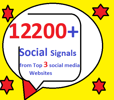 12200+ HQ Mixed Seo Social Signals from Top 3 social media sites PR9 LinkedIn pinterest