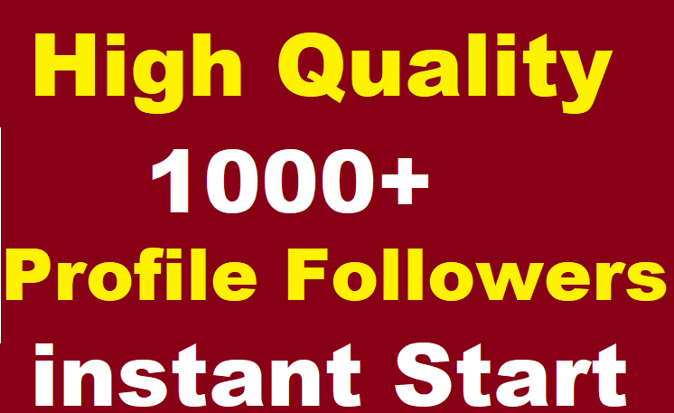 1000+ Social Media Profile Followers High Quality instant Start
