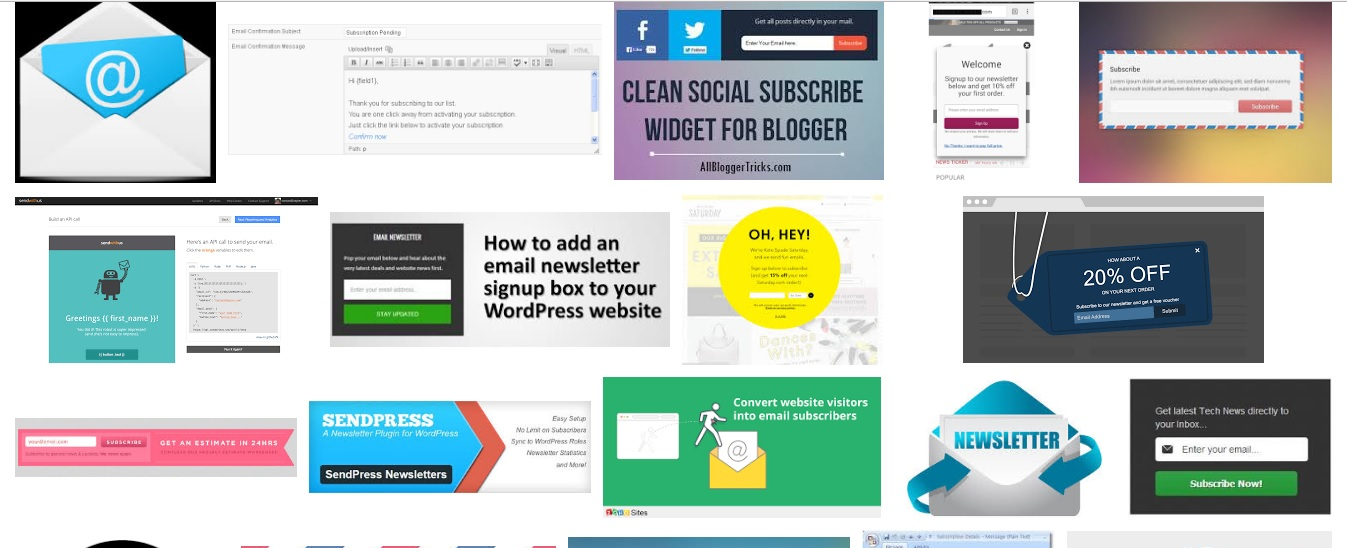Setup e mail and newsletter campaign for your website