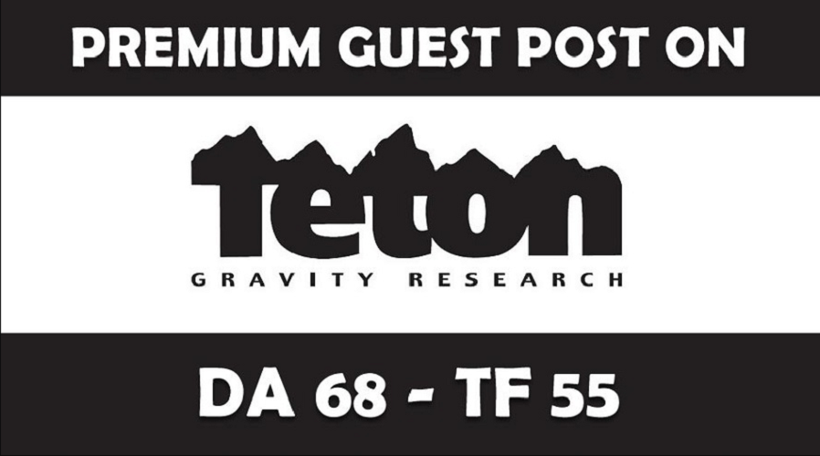 Publish Guest Blog on TetonGravity/com DA68,  PA74 with dofollow Link