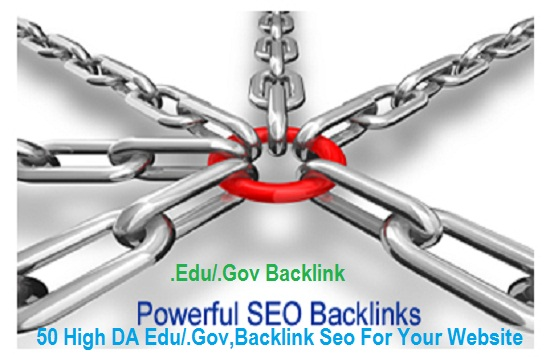 Make 50 High DA Edu/. Gov, Backlink Seo For Your Website