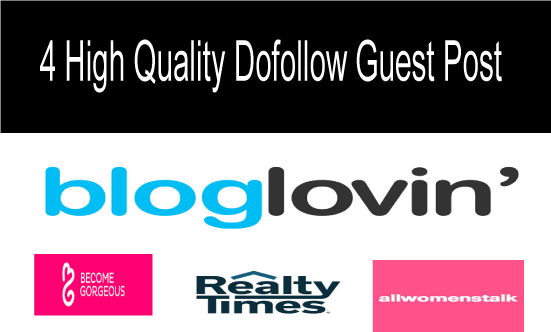 High Quality 4 dofollow guest post, increase your site ranking