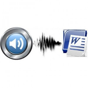 transcribe 10mins audio to word document