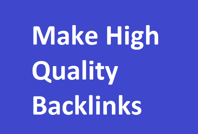 Create 100 White Hat SEO Backlinks, For You
