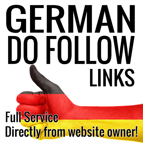 GERMAN Quality Do-Follow Backlinks from Website Owner