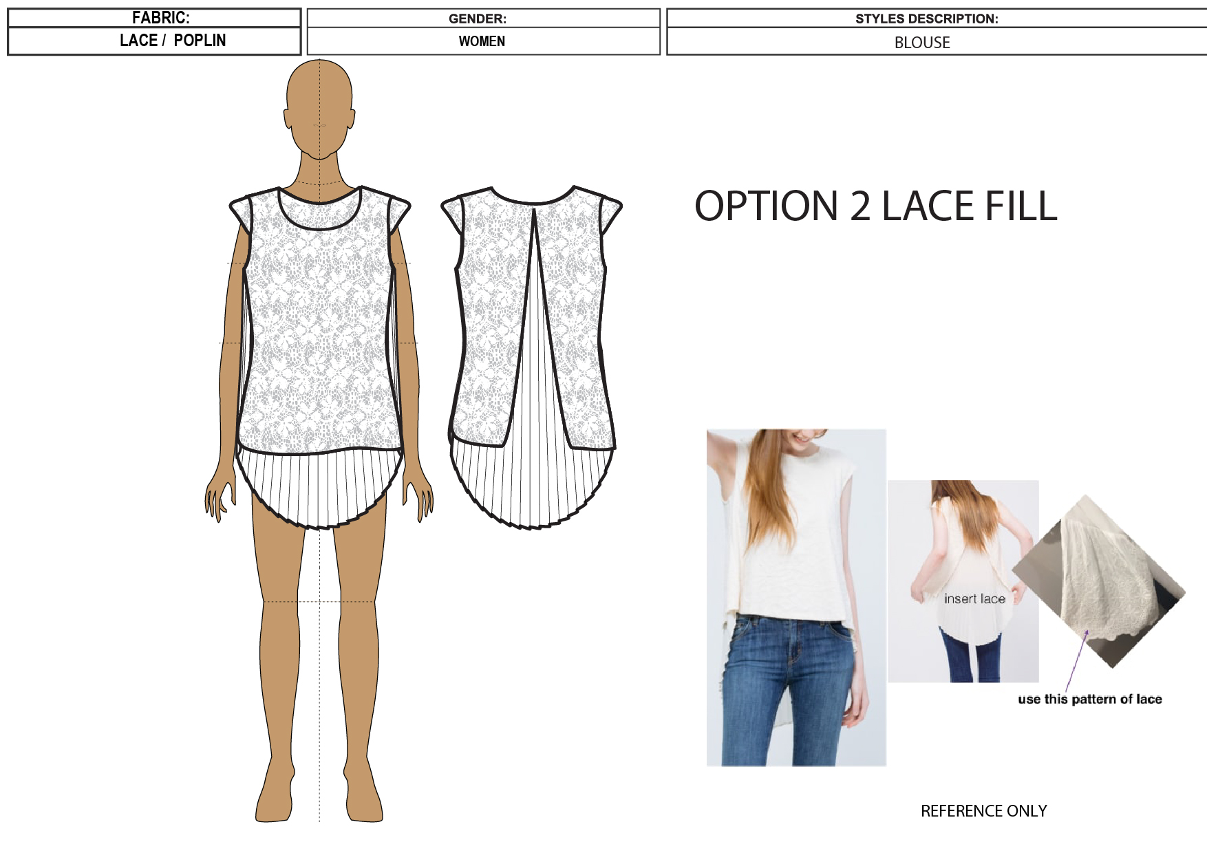 Create Fashion flats or technical Sheet,  or Tech Pack of a Garment or Apparel