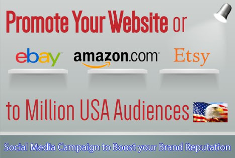 Promote your amazon,  eBay, etsy shopping store product.