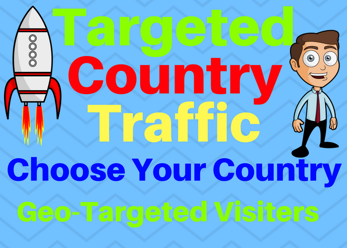 Provide You 7500 Targeted Country Traffic Choose your country