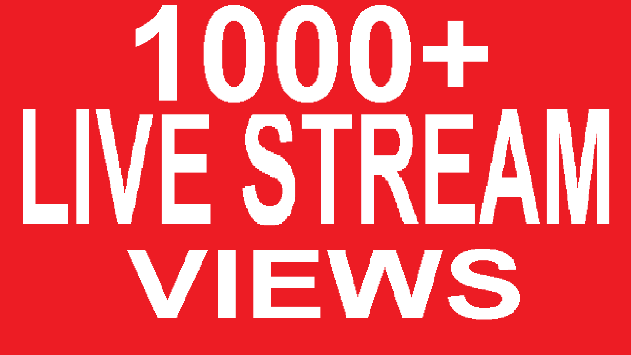 1000+ Embeded LiveStream Viewers Video Promotion