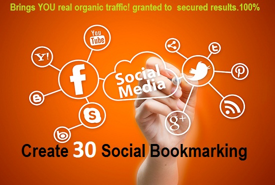 Add 30 high pr social bookmarking for your website to get  organic traffic