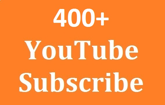 Guaranteed 400+Youtube Channel Subs-criber Non Drop And Safe & Link split Available & super fast in Delivery just