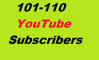 100+ YouTube Subscribers Non Drop Guaranteed