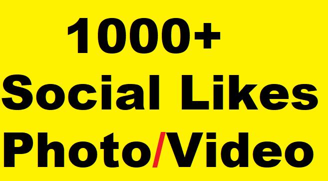 1000+ Social Media Likes on Pics, Videos, Promotion faster
