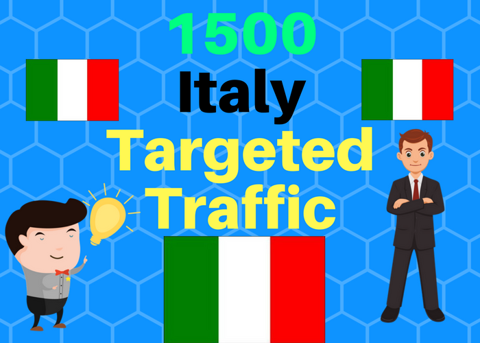 1500 Italy TARGETED Human traffic to your web or blog site Get Adsense safe Good Alexa rank