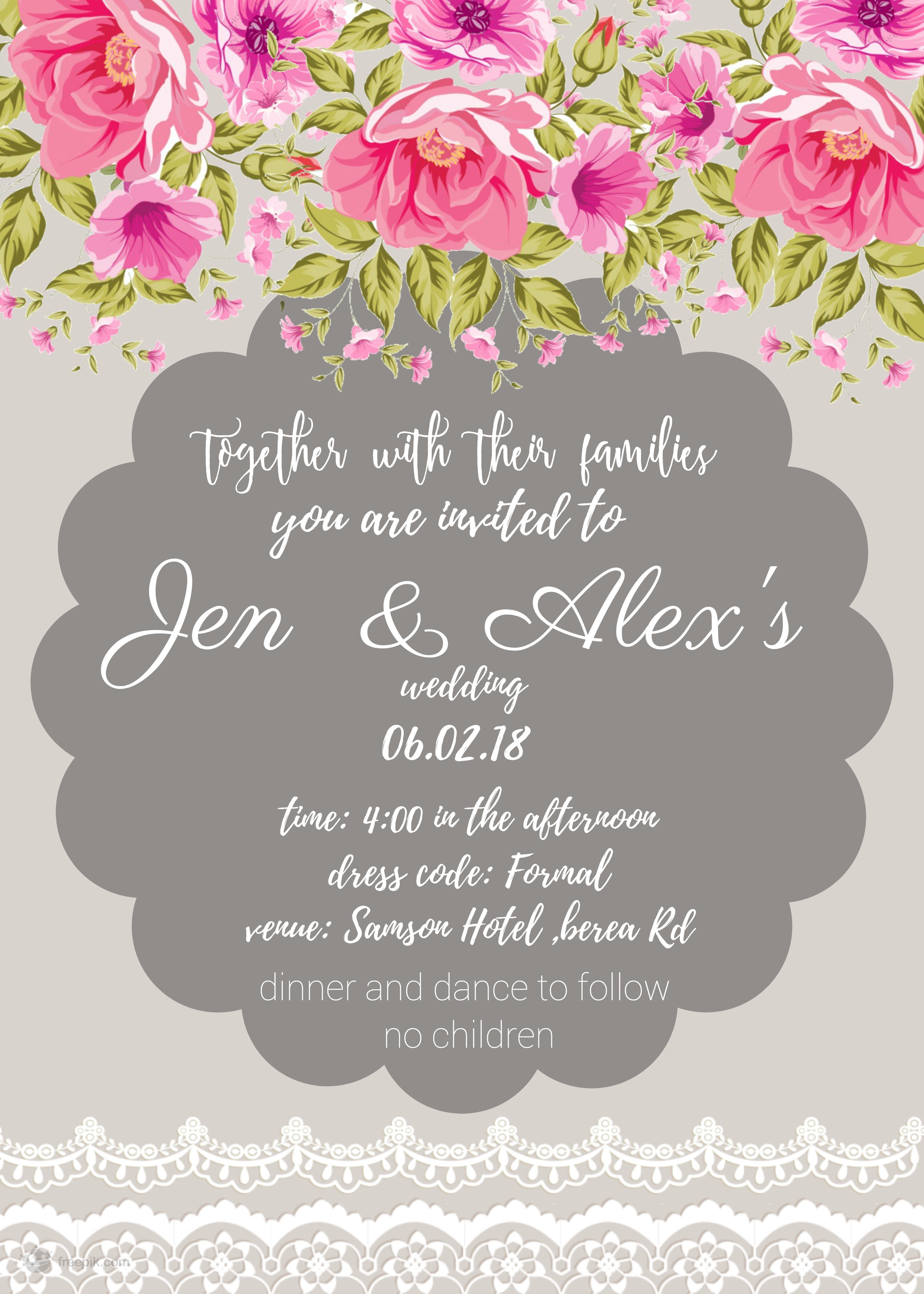 to design a custom wedding invitation incl free label