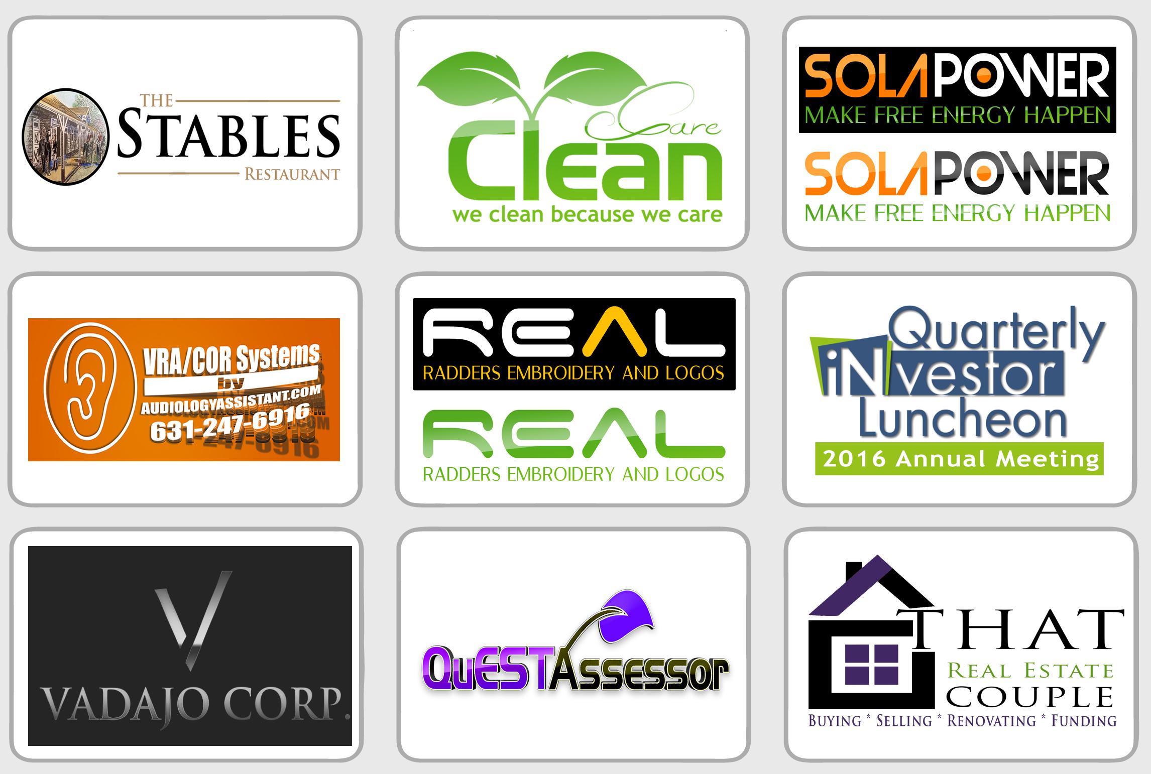 Delivering 5 logo variations for your business