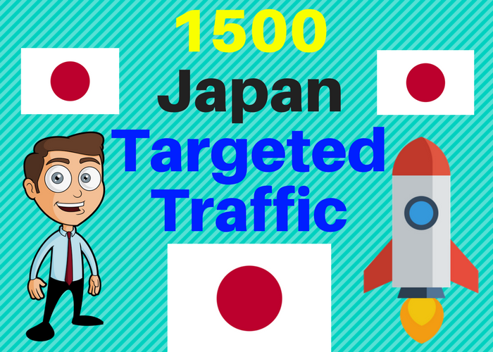 1500 Japan TARGETED traffic to your web or blog site. Get Adsense safe and get Good Alexa rank