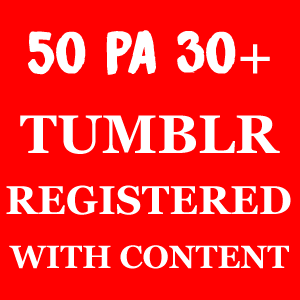 50 Tumblrs PA 30+ With Content and Login Details