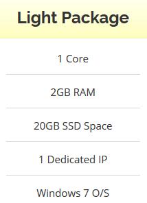Windows VPS 2GB RAM - 20GB SSD - Anti Suspend - Unlimited Bandwidth