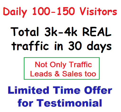 drive UNLIMITED real Traffic 30 days