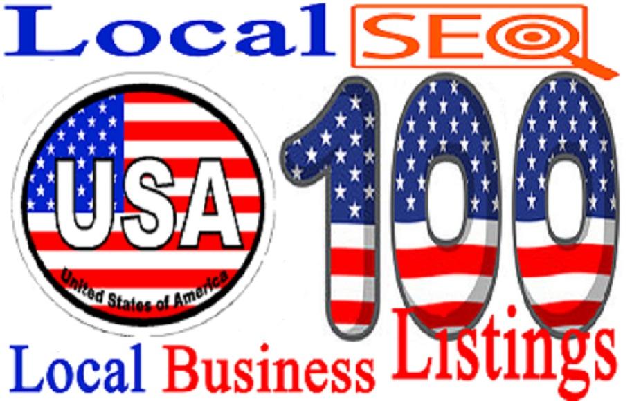 I will Create 100 USA Live Local  CITATION for Local SEO