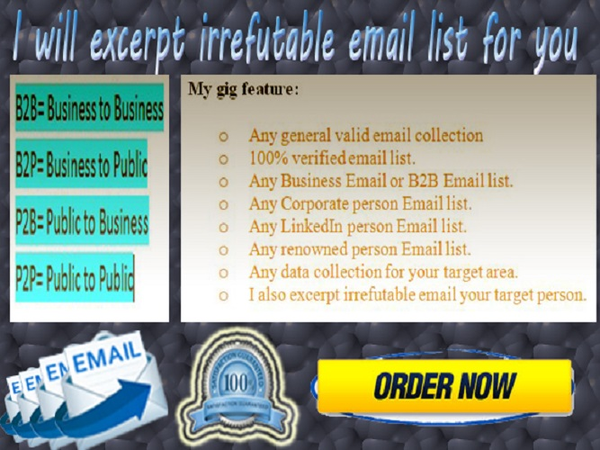 I can excerpt irrefutable email list for you