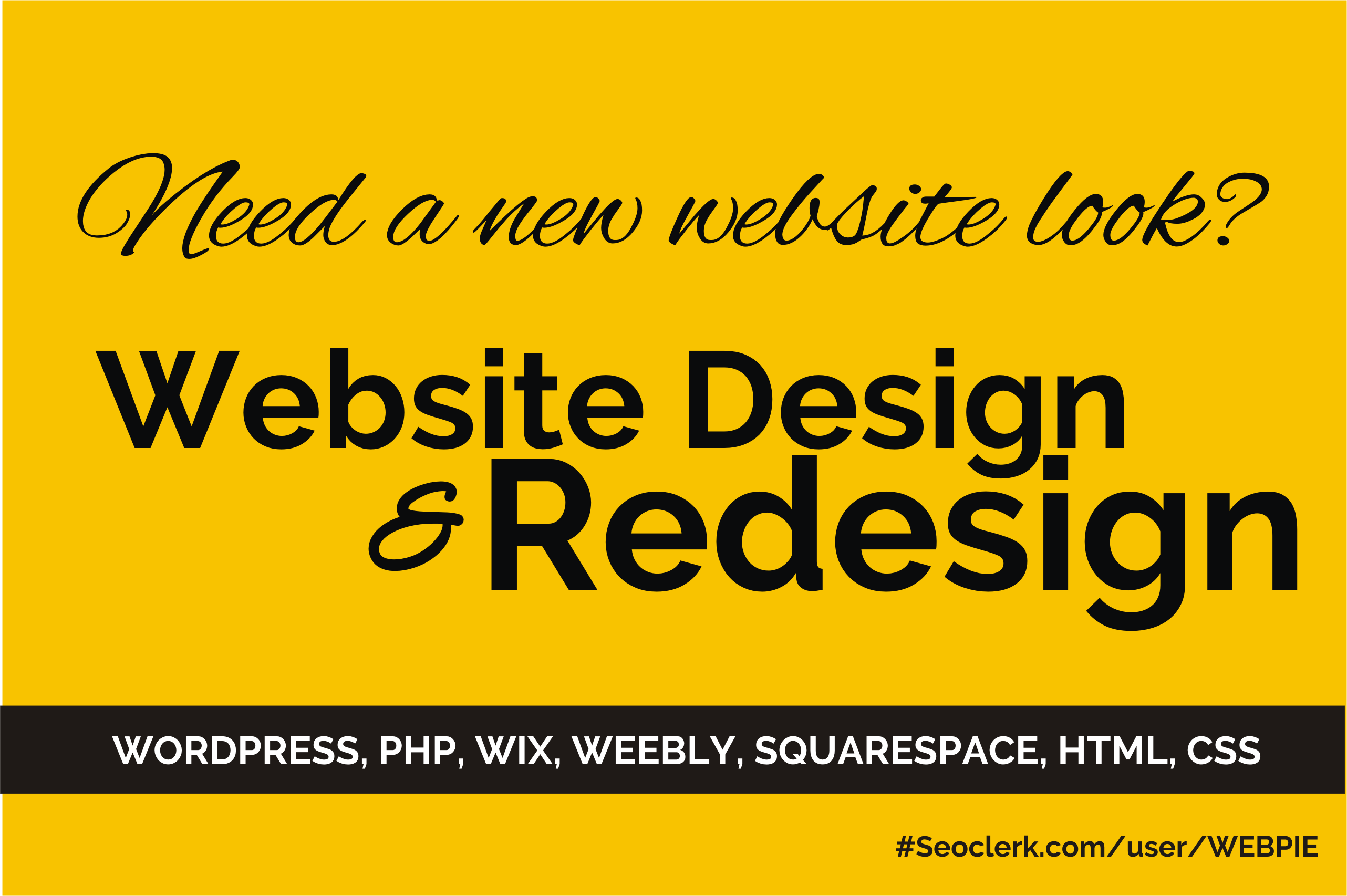 Redesign Your website professionally