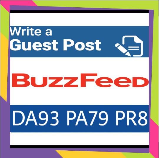 Publish guest post on buzzfeed.com (DA 93 PA79 , PR 8 ) DOFOLLOW Backlink